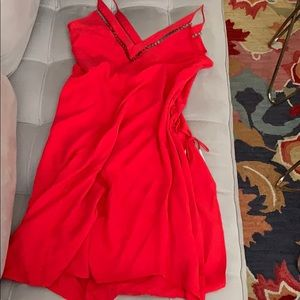 Free people red dress NWT